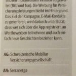 Best of Swiss Apps 2015, Silber in der Kategorie Campaigns