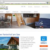 Ferienhof am See – neue Webseite
